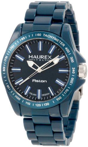 Haurex Italy Men's B7366UB2 Aston Teal Watch - Watch Stainless Steel Aston