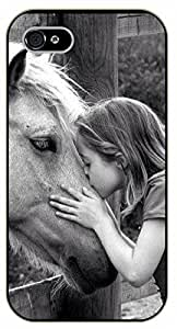 """iPhone 6 (4.7"""") Horse and girl friendship. Love for animals - black plastic case / Inspirational and motivational by SHURELOCK TM"""