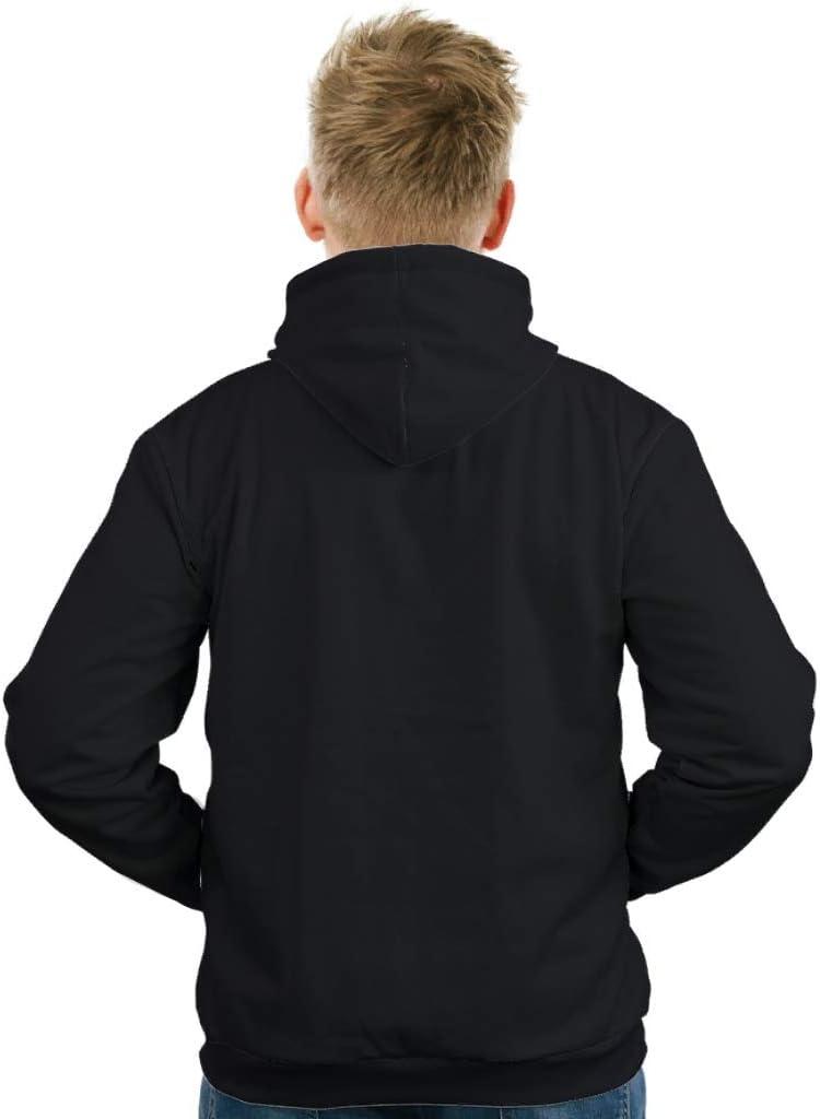 Ouniaodao-Kapuzenpullover mit Kordelzug-Taschen für Herren und Damen, Cooles City-Design, lässige Form weiß