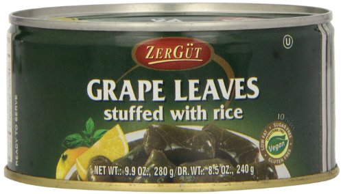 Zergut Stuffed Grape Leaves, 9.9-Ounce Cans (Pack of 12) - Stuffed Cigar