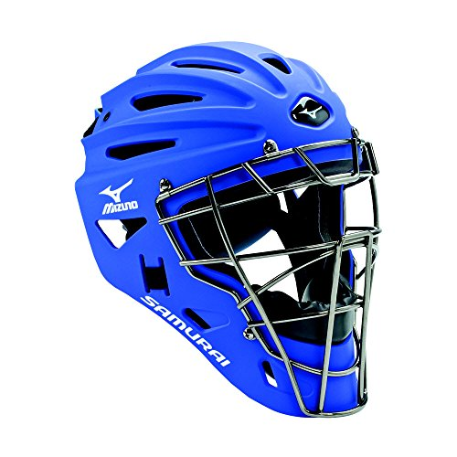 Mizuno G4 Samurai Catcher's Helmet, Royal (Catchers Royal Helmet)