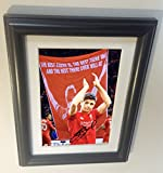 The Last Game Signed Black Soccer Steven Gerrard Liverpool Autographed Photo Photograph Picture Frame Gift SM