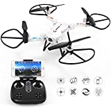 GoolRC T32 FPV Drone Foldable with Wifi Camera Live Video Headless Mode 2.4GHz 4 Channel 6 Axis RTF Height Hold RC Quadcopter (White)