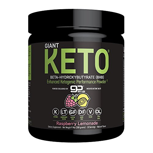 Giant Keto - Exogenous Ketone Supplement - Beta-Hydroxybutyrate Keto Powder Designed to Support Your Ketogenic Diet, Boost Energy and Burn Fat in Ketosis - Raspberry Lemonade - 10 servings