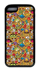 iPhone 5C Case and Cover - Cute Cartoon Collection TPU Rubber Silicone Case for iPhone 5C Black by patoner