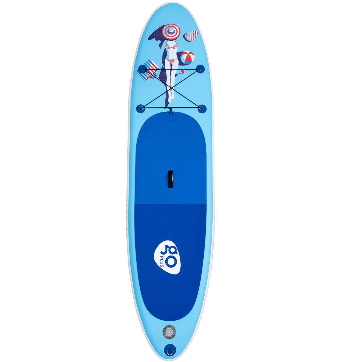 Surfboard bis 200 kg Paddelboard mit Pumpe Stand up Board Set COSTWAY Sup-Board aufblasbar Paddelbrett mit Alu-Paddel