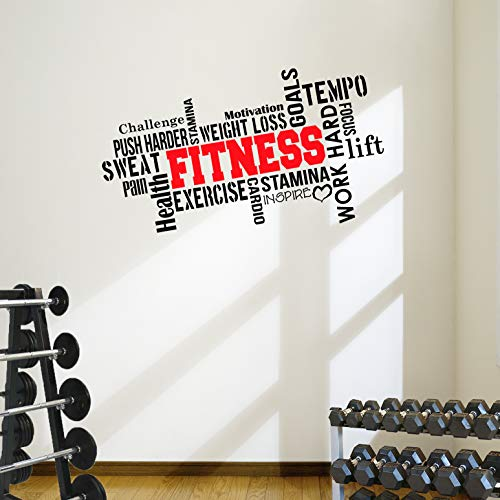ess Motivational Wall Decal Gym Quote ()