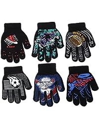 Magic-Stretch Gripper Glove, Kids Size, Colorful Set, 6 Pair