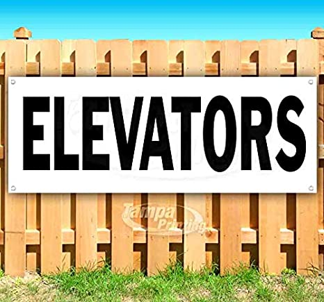 Advertising Many Sizes Available Elevators 13 oz Heavy Duty Vinyl Banner Sign with Metal Grommets Flag, New Store