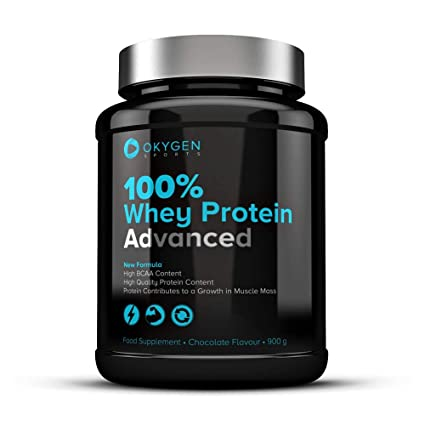Okygen Sports 100% Whey Protein Advanced, Sabor Fresa - 900 gr