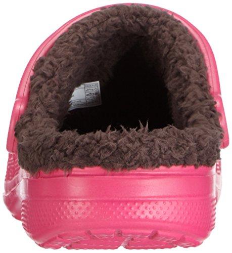 Crocs Baya Lined Unisex - Erwachsene Clogs, Pink (Candy Pink/Mahogany), 37-38 EU (M4/W5 UK/M5W7 US)