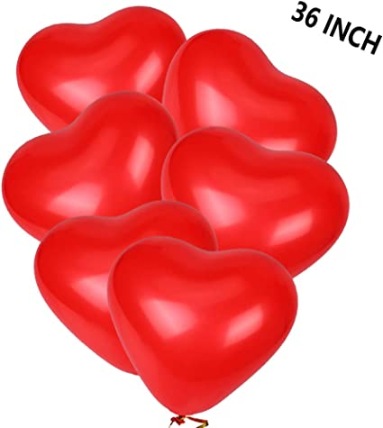 """US 32/"""" Giant Heart Shape Large Foil Balloon Love Wedding Birthday Party Decorate"""