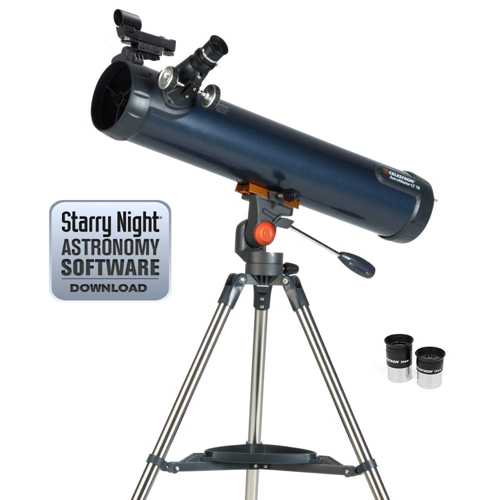 Celestron 31036 AstroMaster LT 76AZ Breathtaking Views, Astronomical Telescope, Blue by Celestron