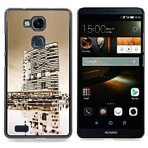 - Black & White City/ Duro Snap en el tel????fono celular de la cubierta - Cao - For HUAWEI Ascend Mate 7