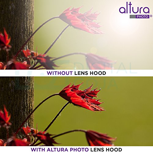 58MM Altura Photo Collapsible Rubber Lens Hood for Camera Lens with 58MM Filter Thread