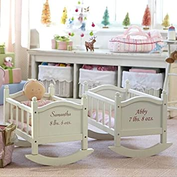 Marvelous Amazon Com Pottery Barn Kids Doll Cradle Baby Lamtechconsult Wood Chair Design Ideas Lamtechconsultcom
