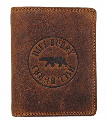 Hill Burry Geldbörse aus naturgegerbtem geöltem Leder /Volleder LGHB6401S