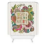 Deny Designs Valentina Ramos Today is Going to be Awesome Shower Curtain, 70' x 90''