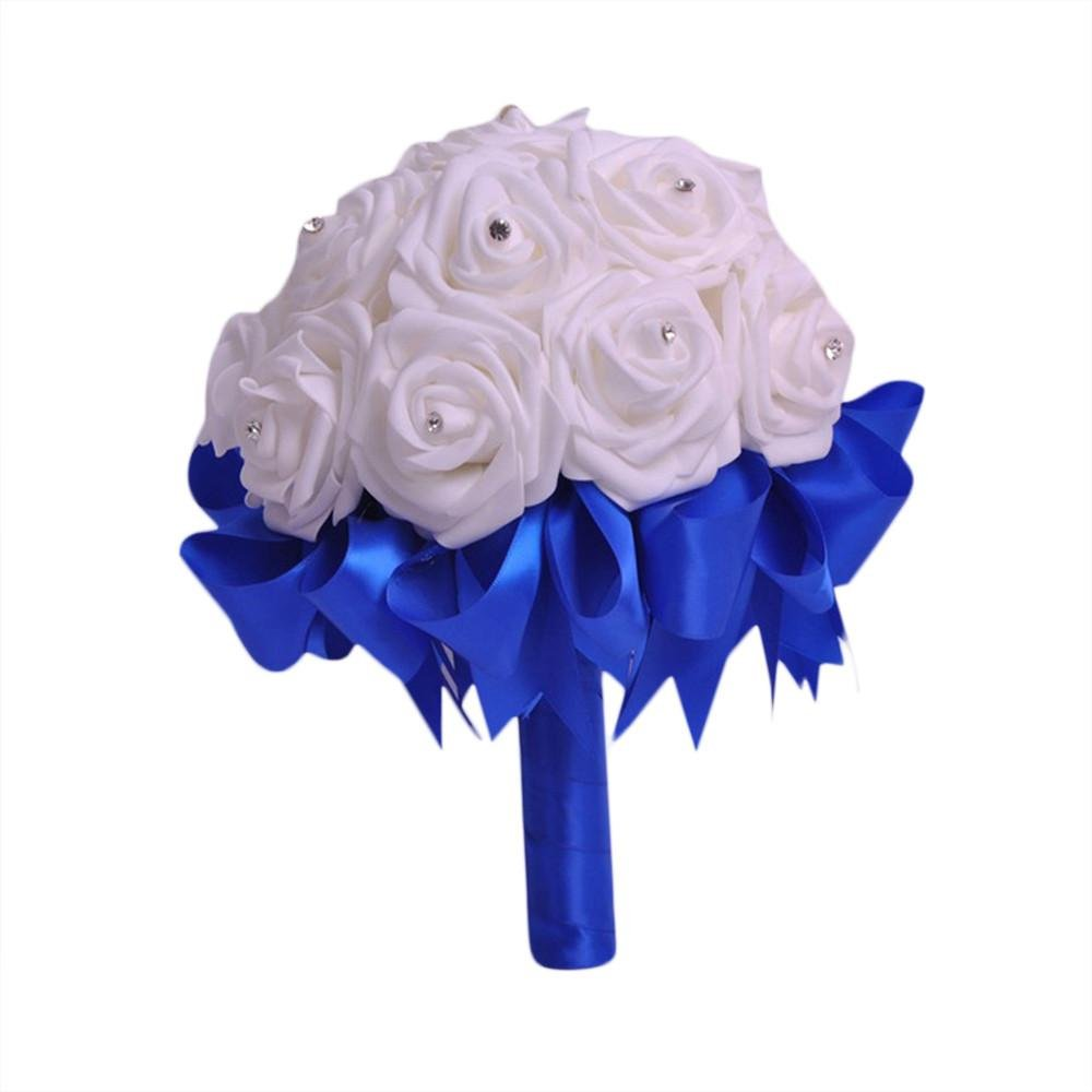 ZTTONE-Wedding-Bouquet-Crystal-Roses-Bridesmaid-Wedding-Bouquet-Bridal-Artificial-Silk-Flowers-Blue