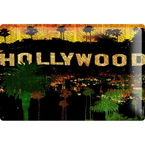 onepicebest 8x12 M.A. Allen Retro Tin Sign Poster U.S. Deco LA Hollywood Los Angeles California Retro Metal Sign Vintage, Man Cave, Garage, Shed -
