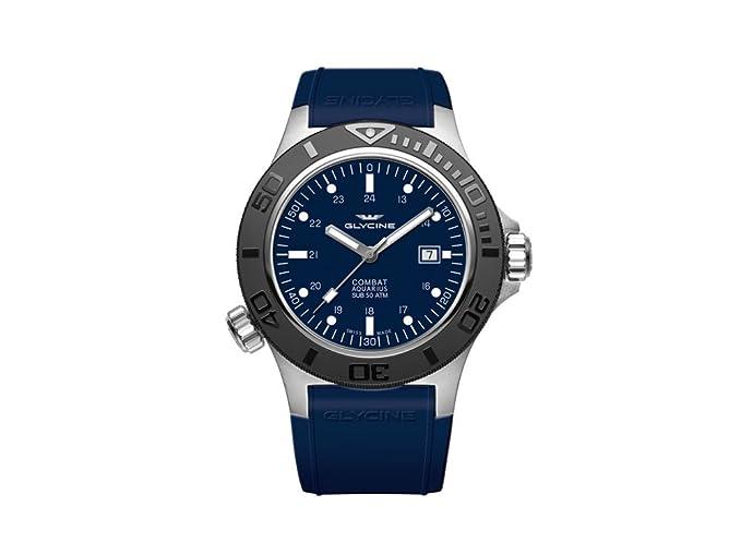 Reloj Automático Glycine Combat Sub Aquarius, GL 224, Azul, 46mm, GL0038: Amazon.es: Relojes