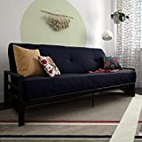 DHP 2263059 Miles Metal Futon Frame Perfect as a Sofa and Bed, Black