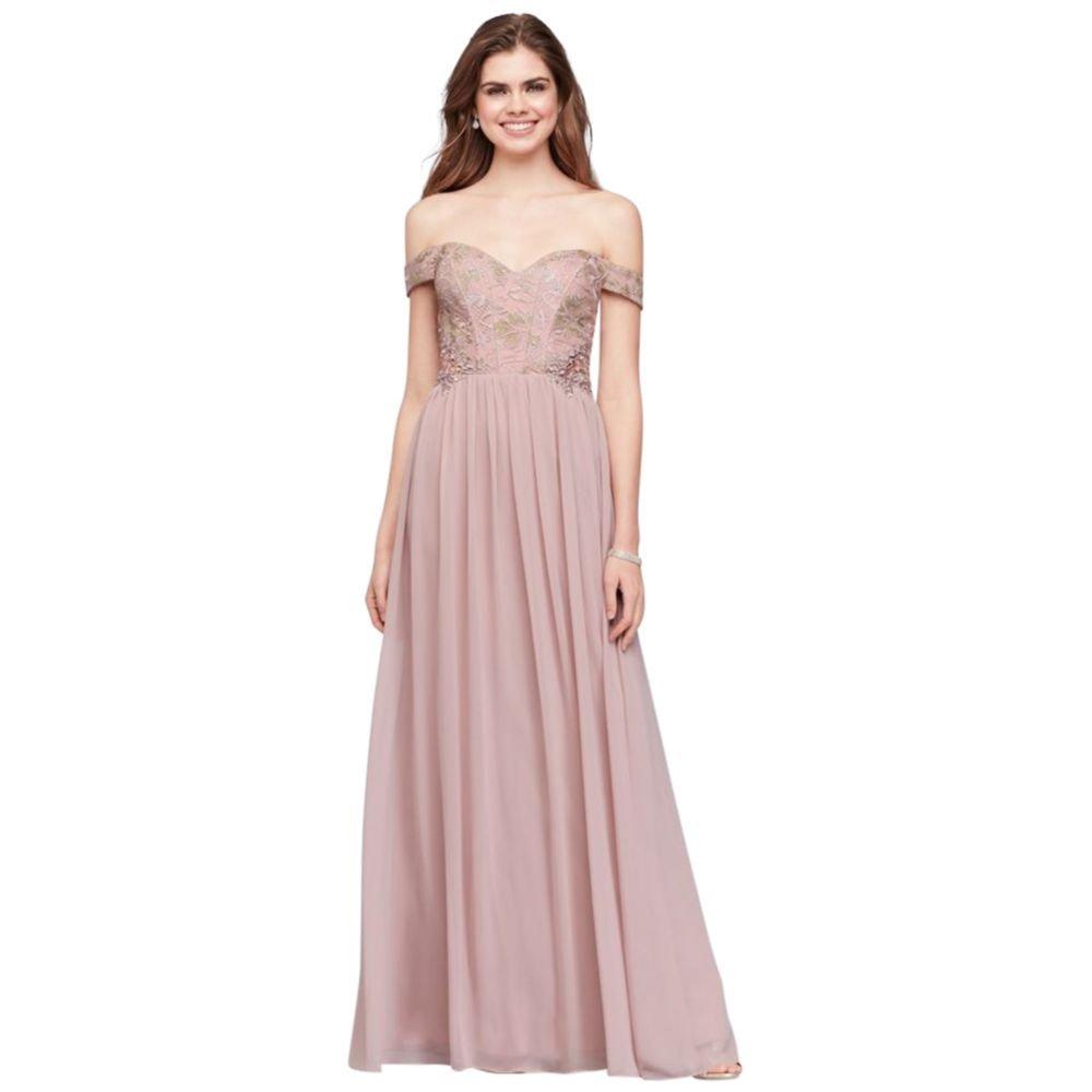 a80a0f6b44a Off The Shoulder Prom Dresses Davids Bridal