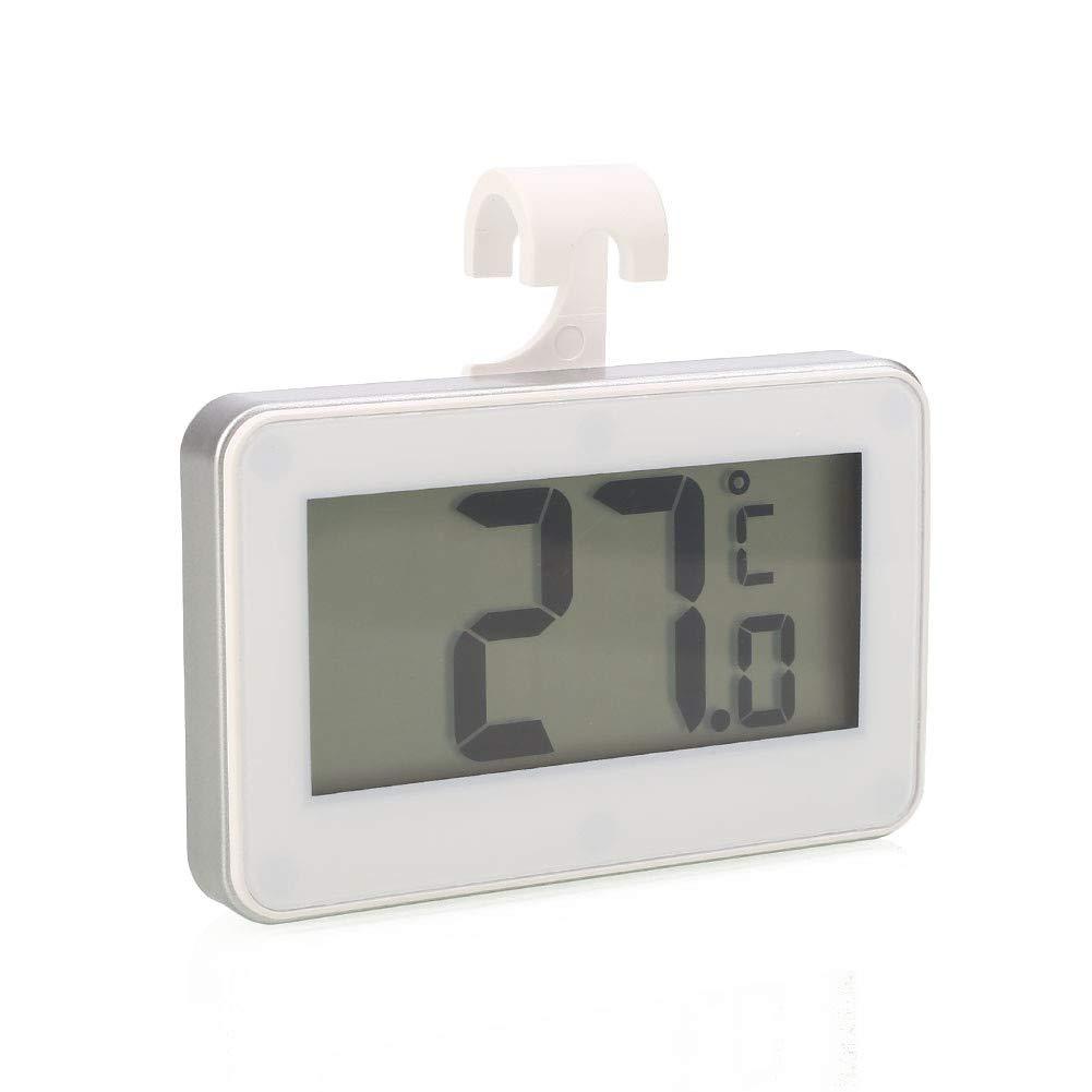 Voraca Digitales Kühlschrankthermometer, Temperatur-Tester, für Zuhause, Küche, Aufhängewerkzeug, Weiß