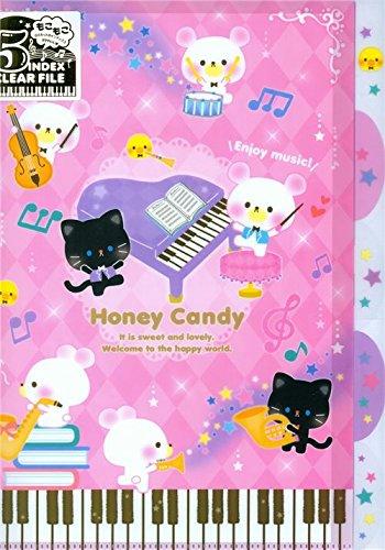 Carpeta archivador lindo rosa A4 5 apartados oso gato pollo ...