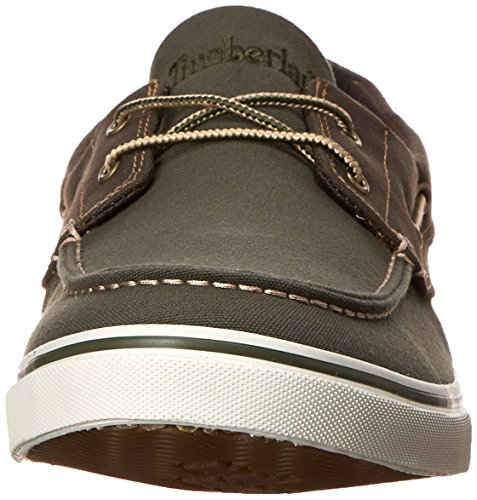 Timberland Hombres Newmarket Barco Oxford Olive / Dark Olive Canvas