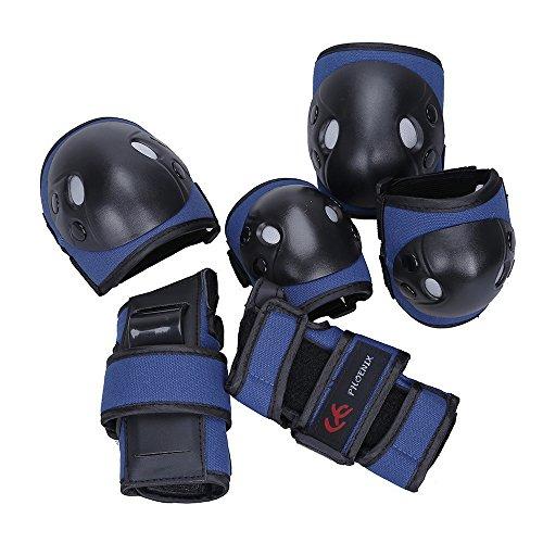 PHOENIX Schutzausrüstung für Kinder Sport Handgelenkschützer Ellbogenschützer KnieschützerProtektoren (Blau, Kinder)