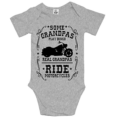 Unisex Baby Short Sleeve Some Grandpas Play Bingo Real Ride Motorcycles Bodysuit Jumpsuit Infant and Toddler Bodysuits