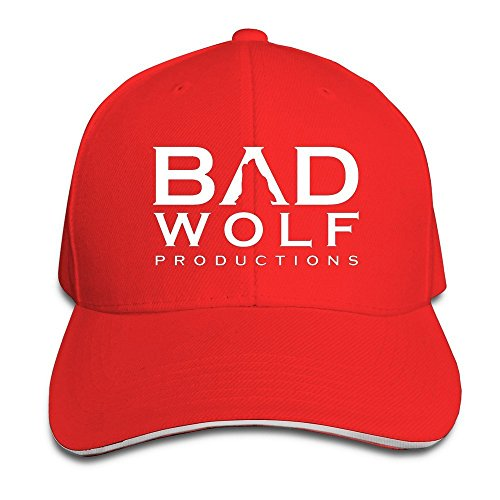 Runy Custom Bad Wolf Adjustable Sanwich Hunting Peak Hat & Cap Red