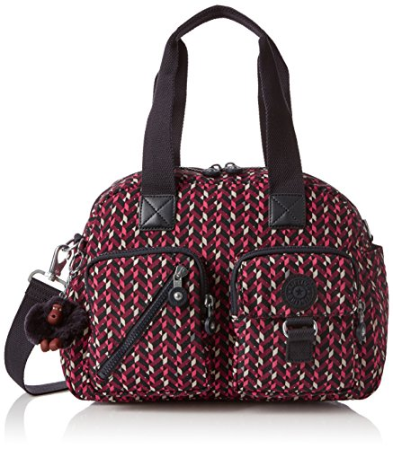 Multi Color Pink Handbag (Kipling Defea, Women's Cross-Body Bag, Multicolour (Pink Chevron), 15x24x45 cm (W x H x L))