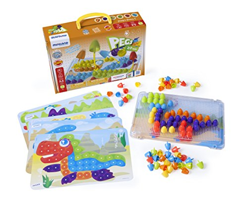 Interactive Peg Board Game with 90 Pegs & 6 Worksheets, 3/4