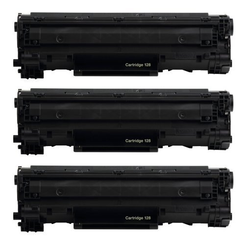 Remanufactured Canon 128 3500B001AA Black Toner Cartridge for Canon imageCLASS D520, D530, D550, D560, L100, L190, MF4412, MF4420, MF4450, MF4550, MF4570, MF4580dn, MF4770n, MF4880dw, MF4890dw – 3 Pack, Office Central