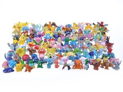 24 verschiedene Pokemon Figuren im Set 1-3cm SAMMELFIGUREN - KEIN SPIELZEUG - perfekt für Adventskalender zum befüllen Mini Monster Pokemon GO Pikachu Anime Manga Comic thematys®
