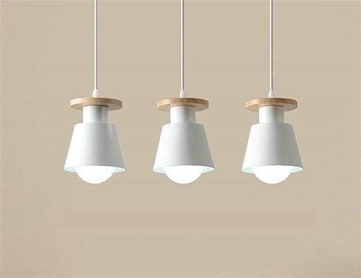 LUCKY CLOVER-A Lámpara De Techo Lámpara De Estilo Nórdico Pantalla De Metal Lámpara Colgante 3 Cabeza Diseño De Minimalismo Iluminación Interior: Amazon.es: Hogar