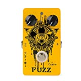 Caline Electric Effect Pedal Fuzzy Bear Guitar Fuzz Pedal Vintage Effects Pedals Aluminum Alloy Shell with True Bypass Orange CP-46 Christmas Gifts