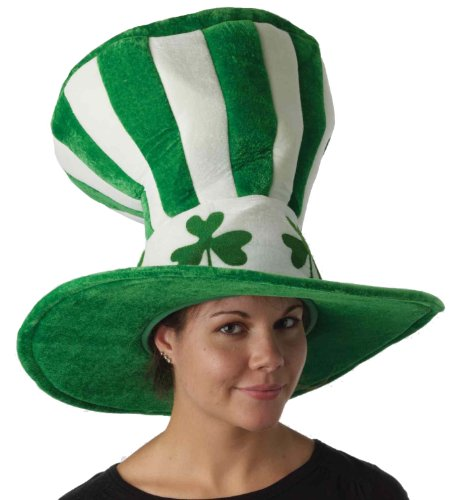 Forum Novelties St. Patrick's Day Costume Stovepipe Hat, Jumbo Green/White, One Size