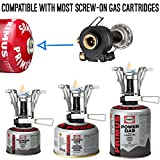 Foxelli-Camping-Stove-with-Piezo-Ignition-System-Lightweight-Portable-Collapsible-Best-Camp-Stove-Burner-for-Outdoors-Backpacking-Survival-Compatible-with-most-Butane-Propane-Gas-Canisters