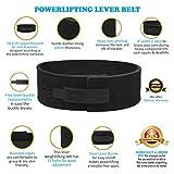 Lever Belt Black Genuine Leather Powerlifting Men & Women Power Lifting 10mm Weightlifting