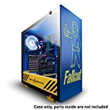 iBUYPOWER Special Edition Fallout ATX Mid-Tower PC Gaming Case - Tempered Glass Panel - Case Only - Nuka Cola Liquid Cooler & Vault Boy Bobble Head Included - Blue/Yellow