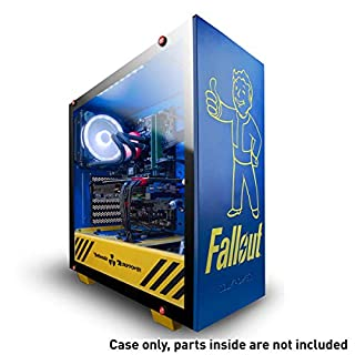 iBUYPOWER Special Edition Fallout ATX Mid-Tower PC Gaming Case - Tempered Glass Panel - Case Only - Nuka Cola Liquid Cooler & Vault Boy Bobble Head Included - Blue/Yellow (B07PGZP676) | Amazon price tracker / tracking, Amazon price history charts, Amazon price watches, Amazon price drop alerts