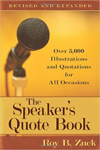 The Speaker's Quote Book Over 60 60 Illustrations And Quotations Delectable Quote Book