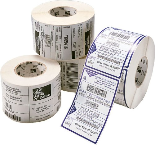 Zebra - 4 x 6 in Direct Thermal Paper Labels, Z-Perform 2000D Permanent Adhesive Shipping Labels, Zebra Desktop Printer Compatible, 1 in Core - 6 Rolls ()