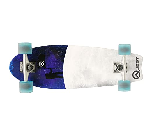 Quest Fishtail Cruiser Board Skateboard, 8 x 27-Inch Review
