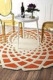 nuLOOM Hand Tufted Lumi Area Rug, 6′ Round, Orange Review