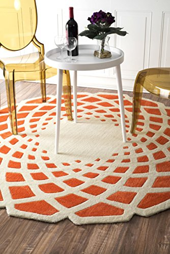 nuLOOM Hand Tufted Lumi Area Rug, 6' Round, Orange (6' Round China)