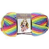 Lion Brand Yarn 595-216 Color waves Yarn, Rainbow